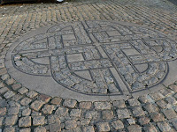 celtic knot derry pavement northern ireland copyright kerry dexter
