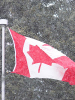 canadian flag banff copyright kerry dexter
