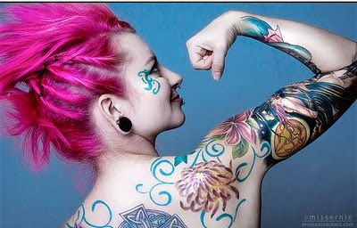 Emo girls with tattoos think