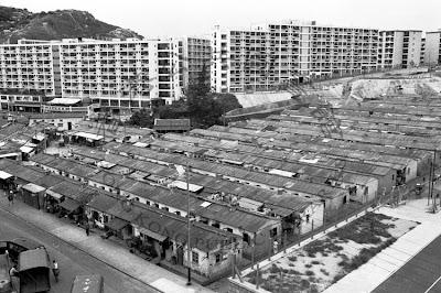 香港舊照片: 大窩坪平房區