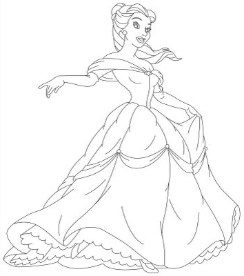 """Coloring in pages of princesses disney ~ Princess belle Coloring Pages """" Disney Characters Ideas ..."""