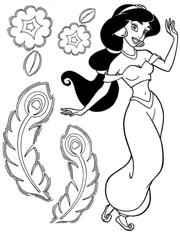 disney princess coloring pages jasmine - photo#12