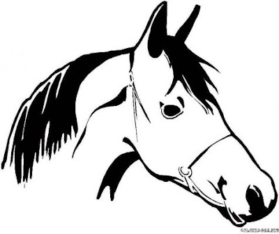 transmissionpress animal stronger quot horse head quot coloring to print