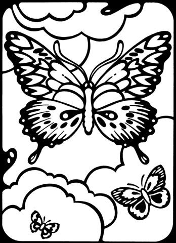 Mario Coloring Sheets: Butterflycoloring Page Furnicutele