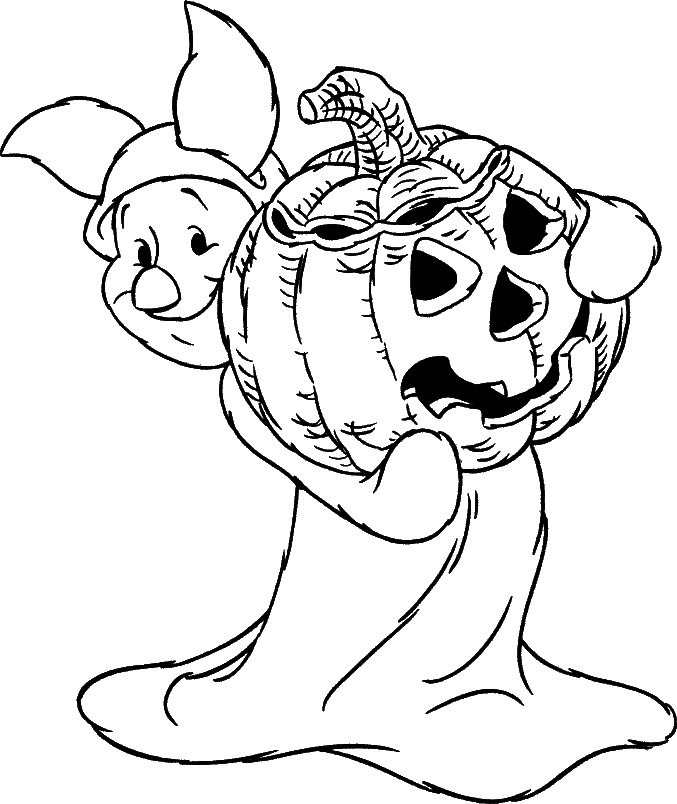Halloween Coloring Pages: Disney Halloween Pumpkin Mickey Coloring Pages