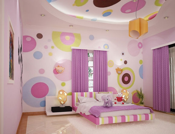 Cool Interior Design Bedroom For Girls Pink Color