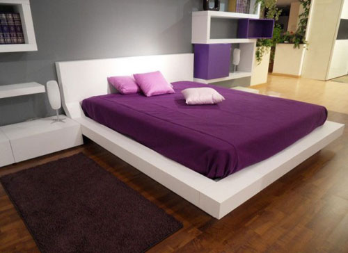 Home Interior Bedroom Purple Color Ideas