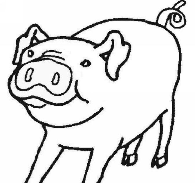"""Transmissionpress: Free Coloring Kids """" Pig """" Animal To Print"""