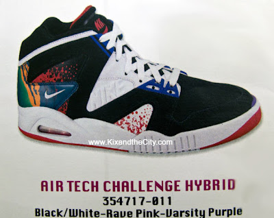 buy popular 593b9 1d9ac Here is one of the 2 recently leaked photos of the Nike Air Tech Challenge  Hybrids that are coming out later this year. They are a mix of all the Agassi  Air ...