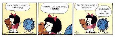 Tira da personagem argentina Mafalda