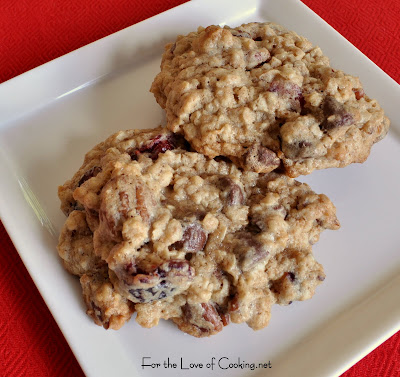 Oatmeal, Chocolate Chip, Craisin and Pecan Cookies