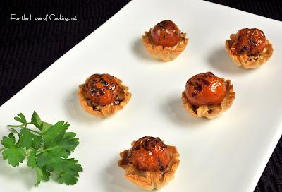 Roasted Tomato and Feta Cheese Mini Tarts