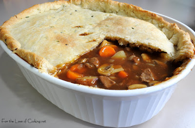 Beef Pot Pie With Chive Crust For The Love Of Cooking