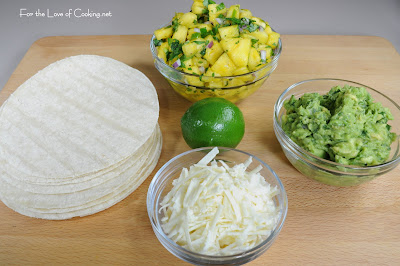 Citrus Marinated Pork Tacos with Pineapple Salsa and Guacamole