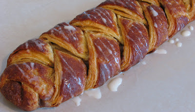 Danish Braids - Strawberry with Orange Vanilla Glaze and Cinnamon and Brown Sugar with Vanilla Glaze
