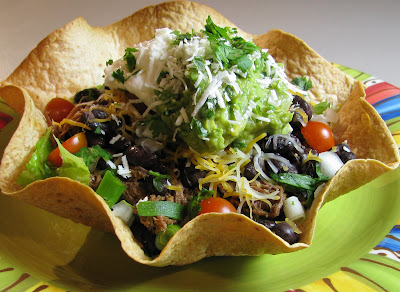 Shredded Beef Taco Salad