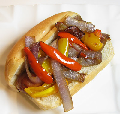 Garlic and Herb Chicken Sausages with Caramelized Onions and Bell Peppers