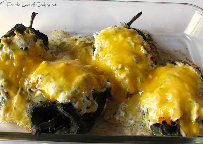 Chicken Stuffed Pasilla Peppers