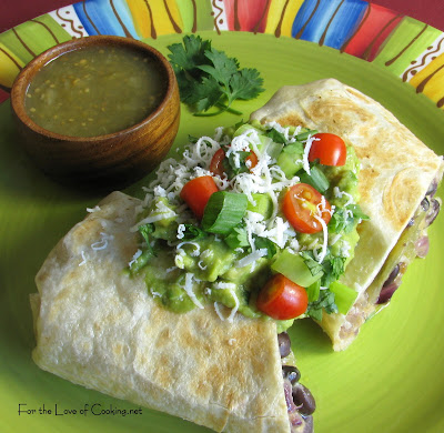 Black Bean, Green Chile and Caramelized Red Onion Chimichanga