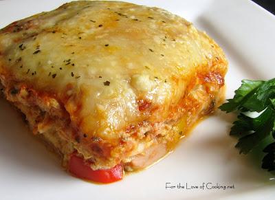 Chicken and Roasted Garlic Lasagna