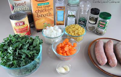 Turkey Italian Sausage, Kale, and Pasta Soup