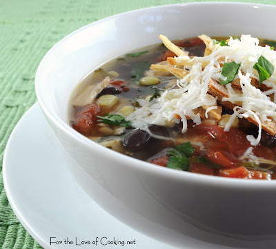 Southwestern Chicken Soup with Black Beans and Corn