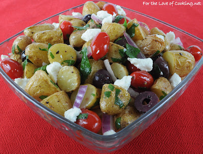 Mediterranean Roasted Potato Salad
