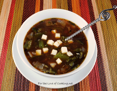 Roasted Tomato Soup with Poblanos, Oregano, and Cotija Cheese aka Sopa de Jitomate y Rajas