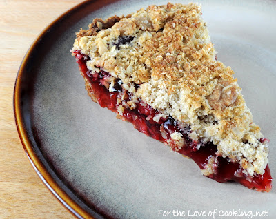 Raspberry Oatmeal Crumb Pie