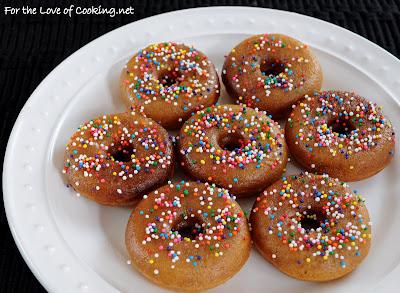 Homemade Baked Cinnamon Mini Donuts with Maple Glaze