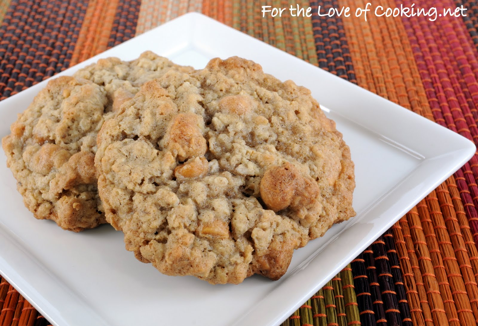 Oatmeal Butterscotch Cookies | For the Love of Cooking Oatmeal Butterscotch Cookies