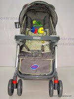 1 Kereta Bayi JUNIOR A019C CLASSICS with Reversible Handle