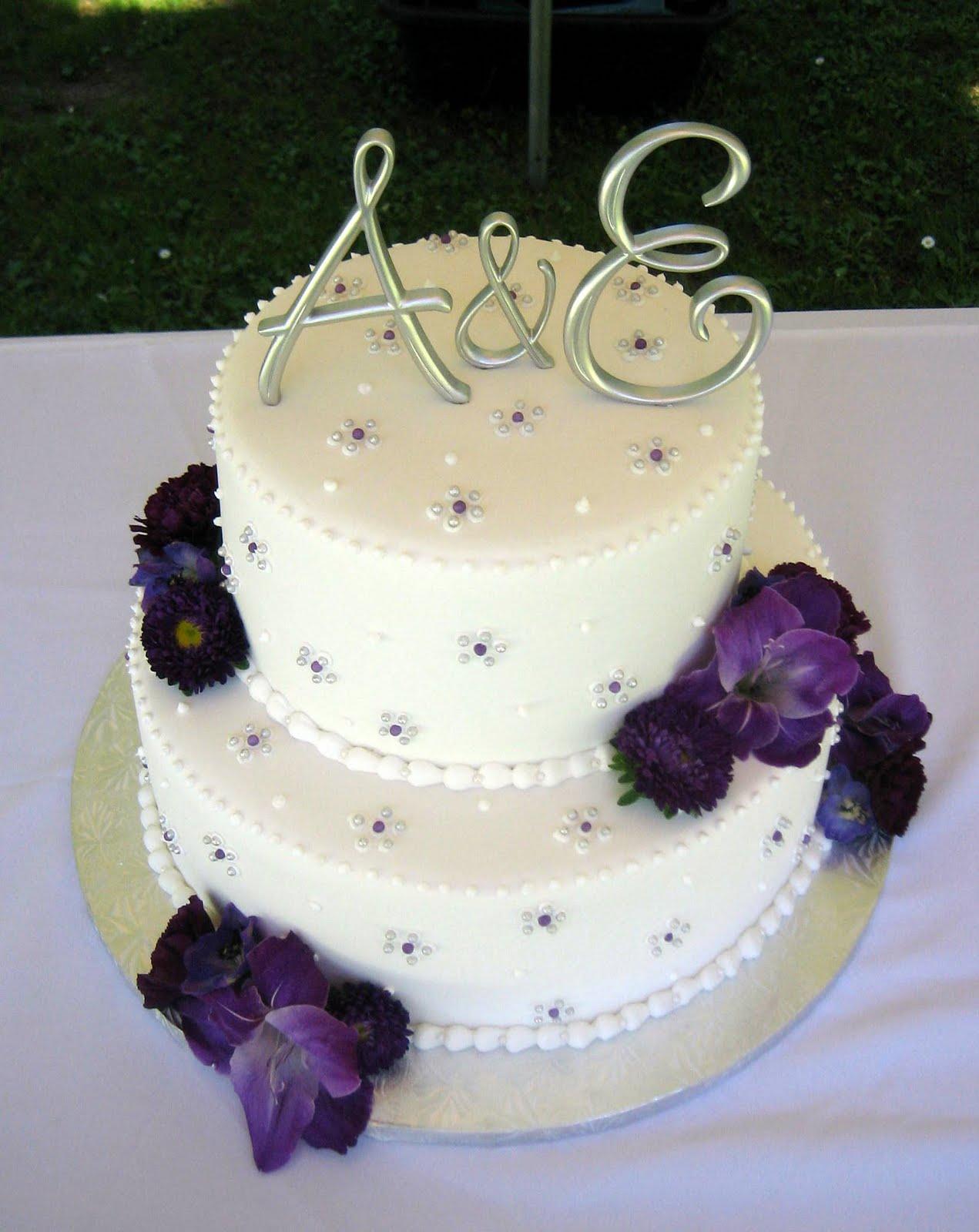 Engagement Cake Purple And White