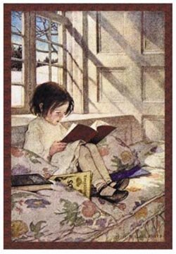 Reading in winter.