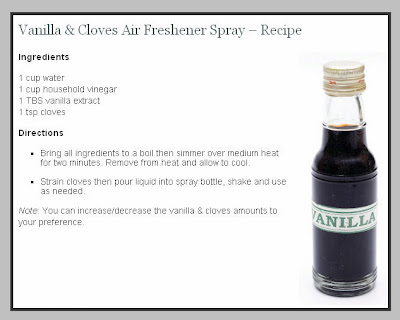 Air Freshener Spray Recipe Vanilla And Cloves Content