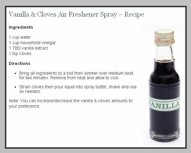 Air Freshener Spray Recipe Vanilla And Cloves Content