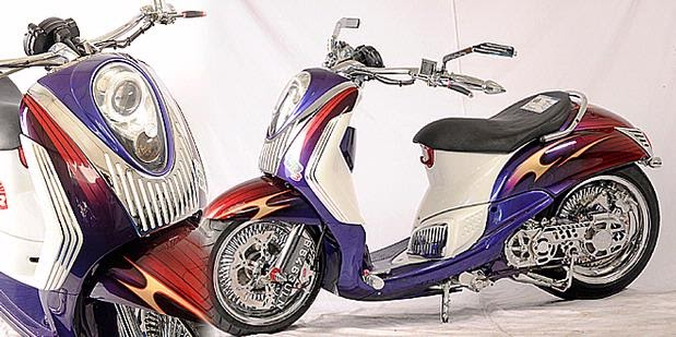 "! Modifikasi Yamaha Mio Soul Model Fino That ""GAMBOT"