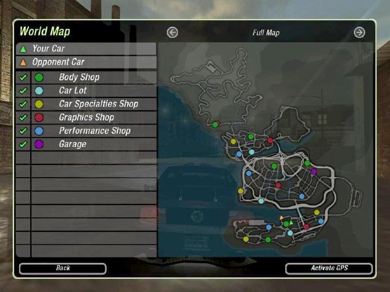 need for speed underground 2 map
