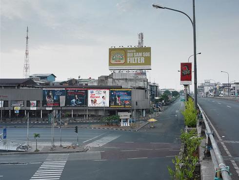 Gambar Saat Jakarta Kosong Melompong