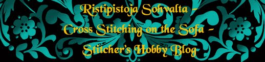 Ristipistoja sohvalta - Cross Stitching on the Sofa - Stitcher's Hobby Blog