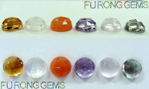 Favorite Rose Cut Loose Cubic Zirconia Stones and Synthetic Gemstones china  XU04