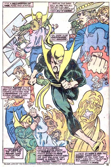 Iron Fist v1 #10 marvel bronze age comic book page art by John Byrne