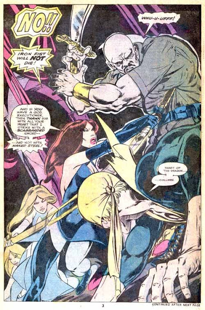 Iron Fist v1 #7 marvel bronze age comic book page art by John Byrne