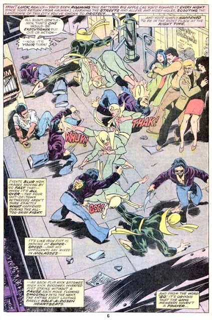 Iron Fist v1 #8 marvel bronze age comic book page art by John Byrne