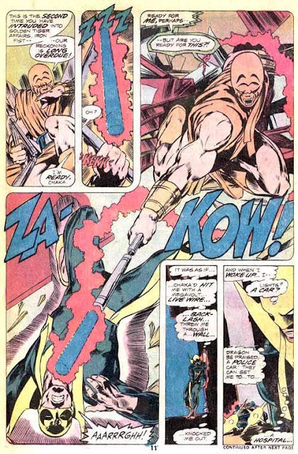 Iron Fist v1 #9 marvel bronze age comic book page art by John Byrne