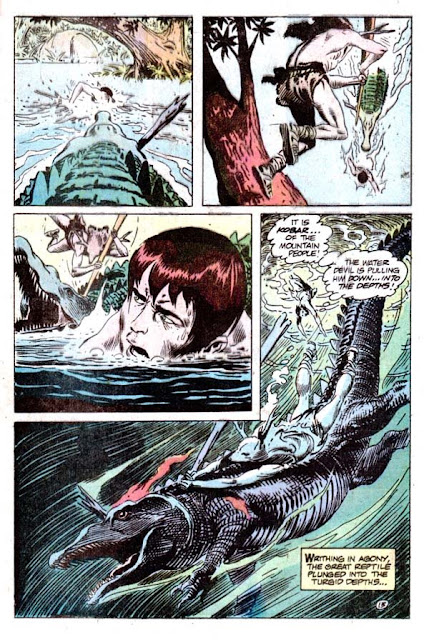 Tor v2 #1 dc bronze age comic book page art by Joe Kubert