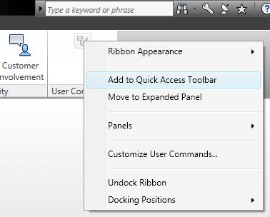 Inventor Topix Tip 1 How To Add Command To Quick Access