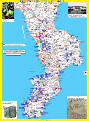 Cartina Geografica Calabria.Calabria Judaica Sud Ebraico קלבריה יהודית Alcune Osservazioni Sulla Cartina