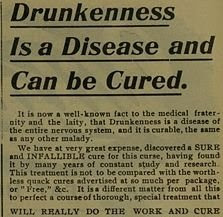 alcoholism is a disease and can be cured