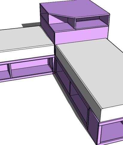Corner Hutch Plans For The Twin Storage